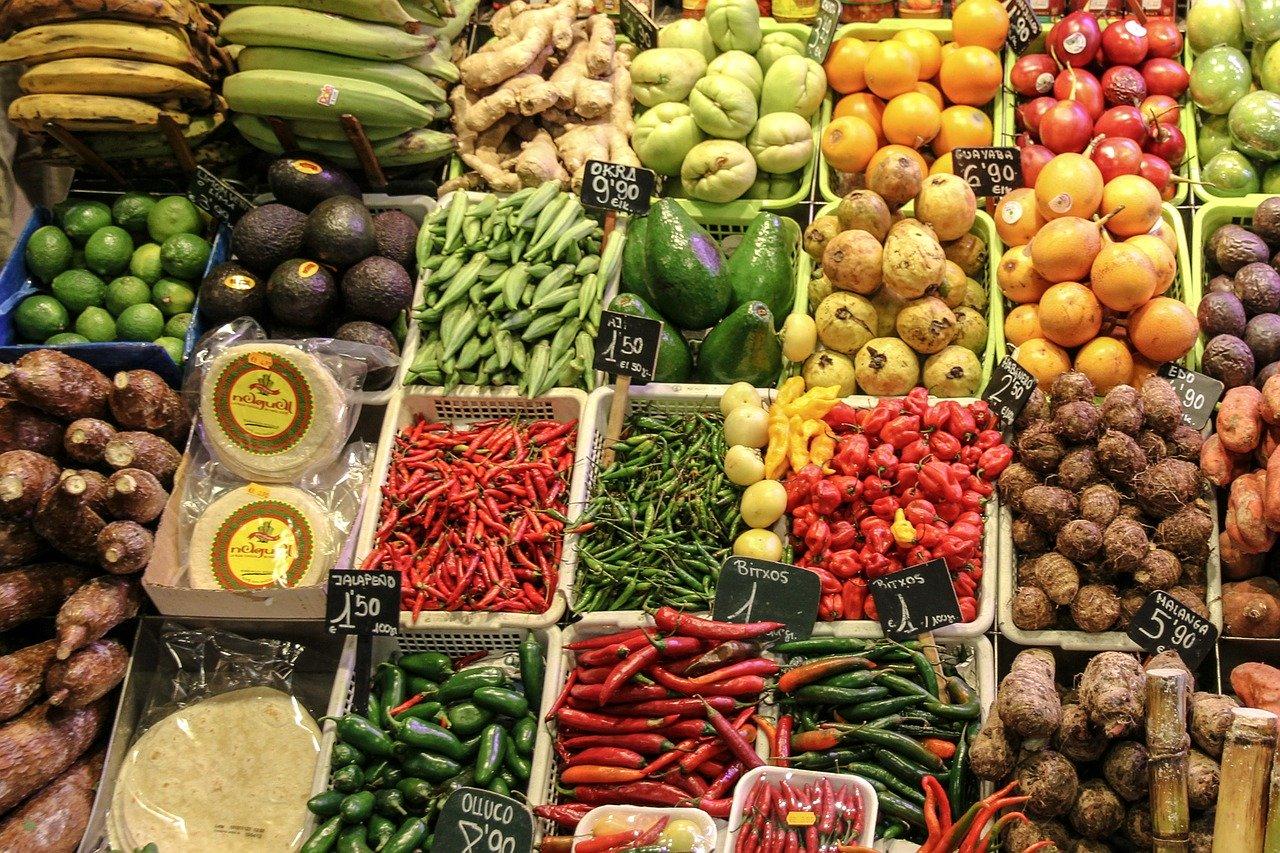 frutas y verduras mas consumidas (